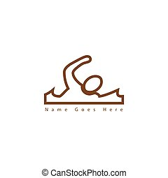 logo., pływacki