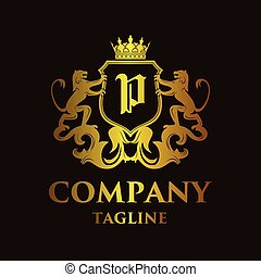 logo, 'p', luxe, lettre