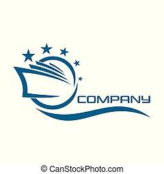 logo, paquebot, croisière