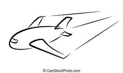 Logo passenger plane.