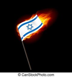 Logo Patriot - Flag of Israel. Concept Illustration of...