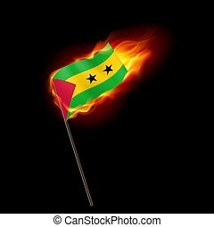 Logo Patriot - Flag of Sao Tome and Principe. Concept...