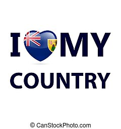Logo Patriot - I Love My Country - Turks and Caicos Islands....