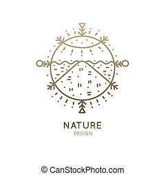 logo, paysage, sacré