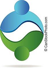 Logo people circle shape