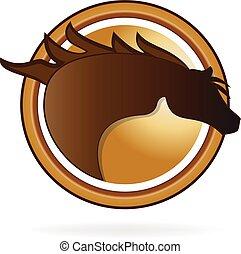 logo, pferd rennen