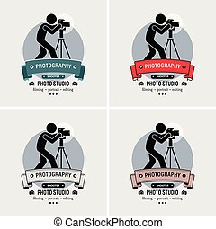 logo, photographe, studio photographie, design.