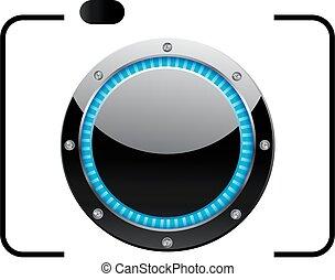 logo, photographie, glänzend