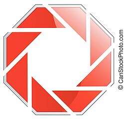 logo, photographie, rotes