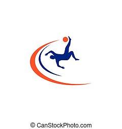 logo, piłka nożna, sport