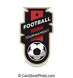 logo., piłka nożna, turniej, piłka nożna