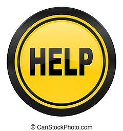 logo, pictogram, gele, helpen