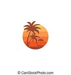 logo, plage, dsesign