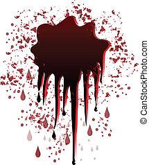 logo, plaska, vektor, fläck, blod