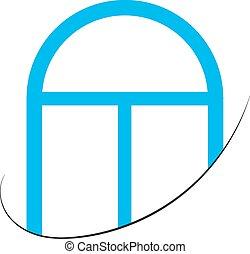 logo, plastique, fenêtre voûtée