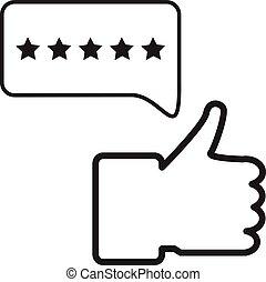logo, plat, icône, étoile, ui., cinq, classement, symbole., style., client, blanc, conception, arrière-plan., réaction, signe., ton, site web, app