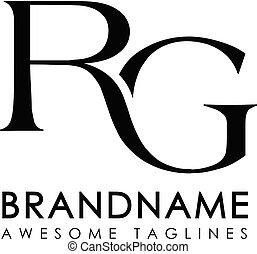 logo, początkowy, beletrystyka, rg