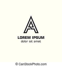 logo, początkowy, litera