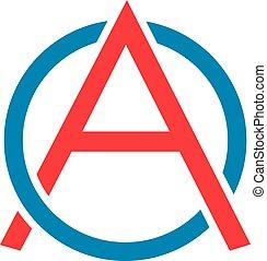 logo, początkowy, logotype, litera