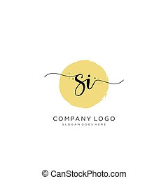 logo, początkowy, projektować, si, pismo