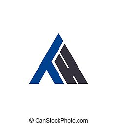 logo, początkowy, th, litera, trójkąt