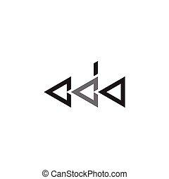logo, początkowy, trójkąt, litera