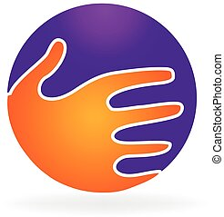 logo, poignée main