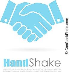 logo, poignée main, résumé, business