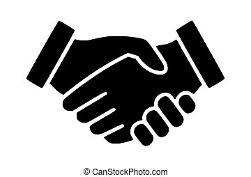 logo, poignée main, vecteur, icon., business