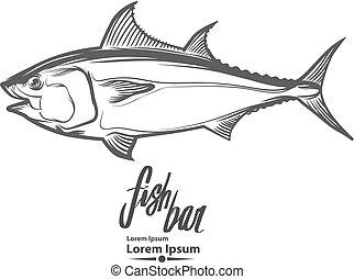 logo, poisson thon