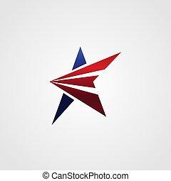 logo, pojęcie, projektować, gwiazda, szablon