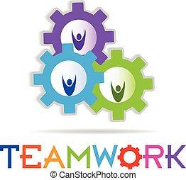 logo, pojęcie, teamwork