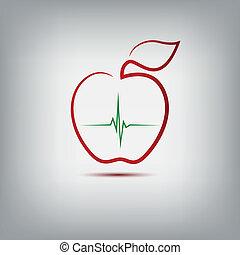 logo, pomme