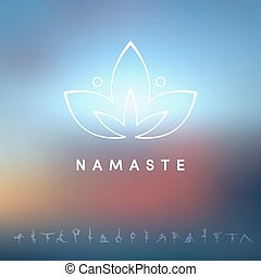 logo, pour, a, studio yoga
