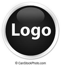 Logo premium black round button