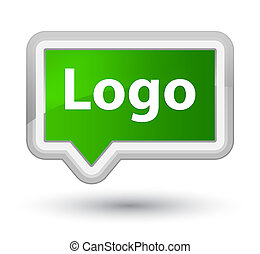 Logo prime green banner button