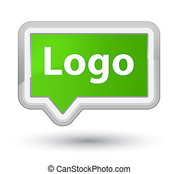 Logo prime soft green banner button