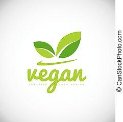 logo, product, ontwerp, vegan, pictogram