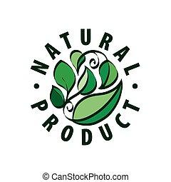 logo, produkt, natürlich