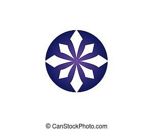 logo, projektować, handlowy, strzała, szablon