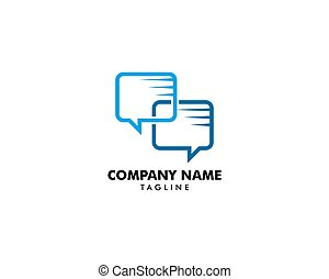 logo, projektować, pogawędka, szablon