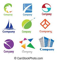 logo, projektować, próbki
