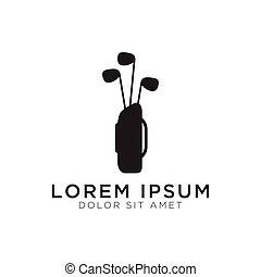 logo, projektować, szablon, golf