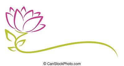 Logo purple flower.