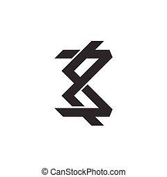 logo, résumé, 3, symbole, ligne, nombre, vecteur