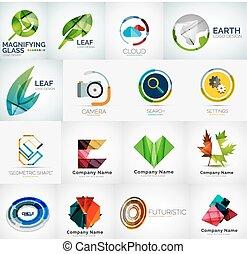 logo, résumé, compagnie, collection