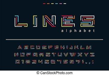 logo, résumé, créatif, fête, lignes, hipster, nombres, art, puzzle, conception, amusement, branché, alphabet., mode, font., jeu, technologie, lettres, labyrinthe, géométrique, couleur