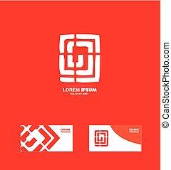 logo, résumé, labirinth, conception