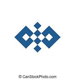 logo, résumé, vecteur, carrée