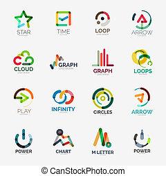 logo, résumé, vecteur, compagnie, collection
